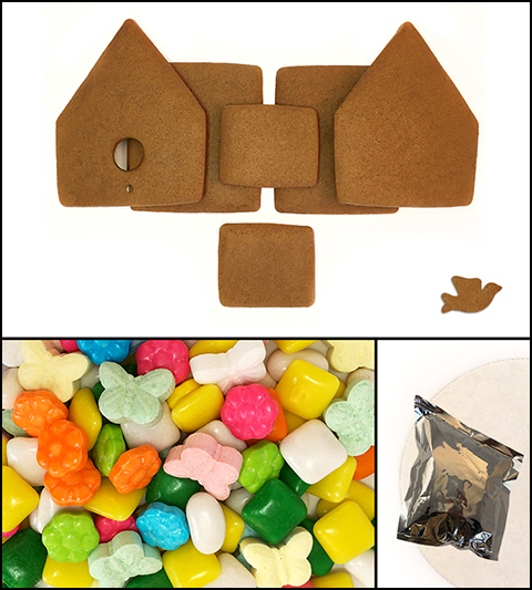 Gingerbread Bird House Kit - Unassembled