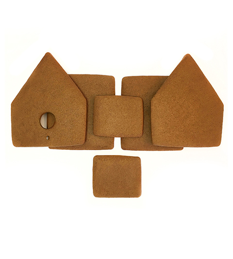 Gingerbread Bird House Parts Only - Unassembled