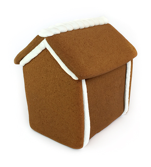 Cabin Gingerbread House Only - Assembled