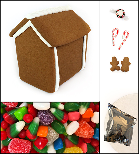 Assembled Gingerbread Cabin House Kit MAIN