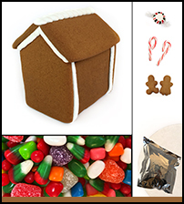 Assembled Gingerbread Cabin House Kit THUMBNAIL