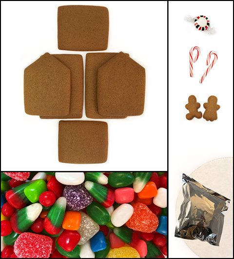Cabin Gingerbread House Kit - Unassembled