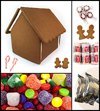 Chateau Gingerbread House Kit - Assembled
