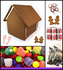 Assembled Chateau Gingerbread House Kit THUMBNAIL