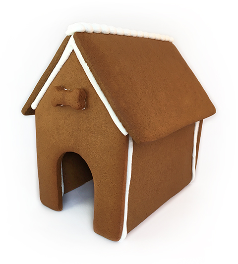 Dog Gingerbread House Only - Assembled MAIN