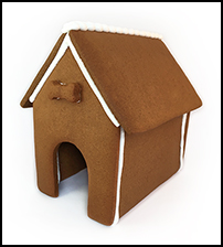 Dog Gingerbread House Only - Assembled