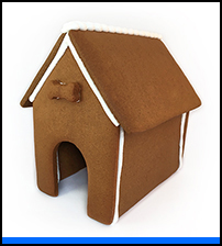 Dog Gingerbread House Only - Assembled THUMBNAIL