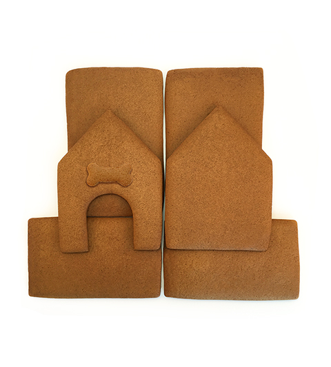 Dog Gingerbread House Parts Only - Unassembled