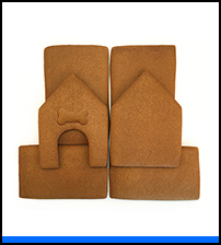 Dog Gingerbread House Parts Only - Unassembled THUMBNAIL
