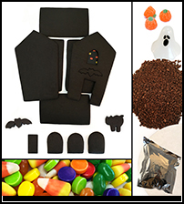 Unassembled Chocolate Halloween Gingerbread House Parts Kit_THUMBNAIL