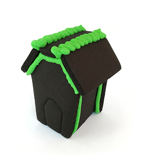 Halloween Black Chocolate Gingerbread Mini House Only - Assembled