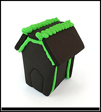 Halloween Black Chocolate Gingerbread Mini House Only - Assembled THUMBNAIL