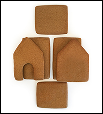 Mouse Gingerbread House Parts Only - Unassembled