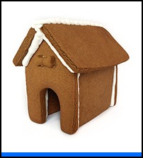 Puppy Gingerbread House Only - Assembled