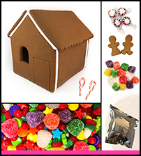 Shop Gingerbread House Kit - Assembled