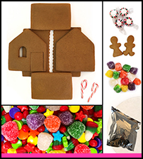 Shop Gingerbread House Kit - Unassembled