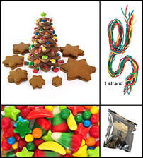Gingerbread Star Tree Parts Kit - Unassembled