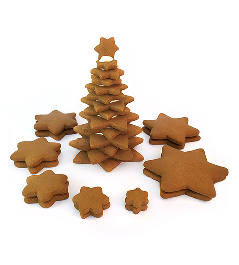 Gingerbread Star Tree Parts Only- Unassembled_MAIN