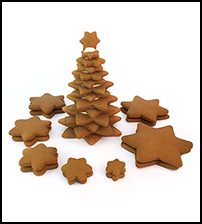 Gingerbread Star Tree Parts Only- Unassembled THUMBNAIL