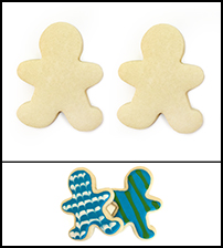 "Sugar Cookie 3½"" Boy and Boy"