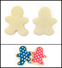 "Sugar Cookie 3½"" Boy and Girl"