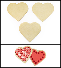 "Sugar Cookie 3½"" Heart THUMBNAIL"