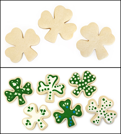 "Sugar Cookie 3½"" Shamrock"
