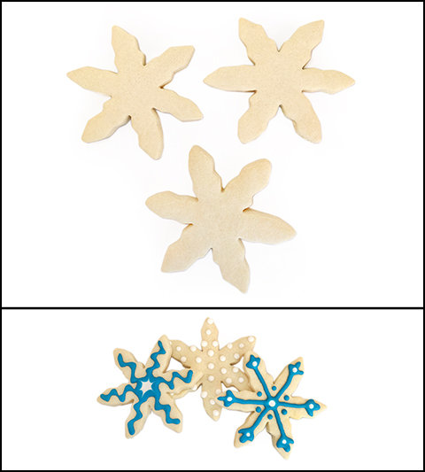 "Sugar Cookie 3½"" Snowflake"