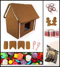 Traditional Assembled Gingerbread House kit THUMBNAIL