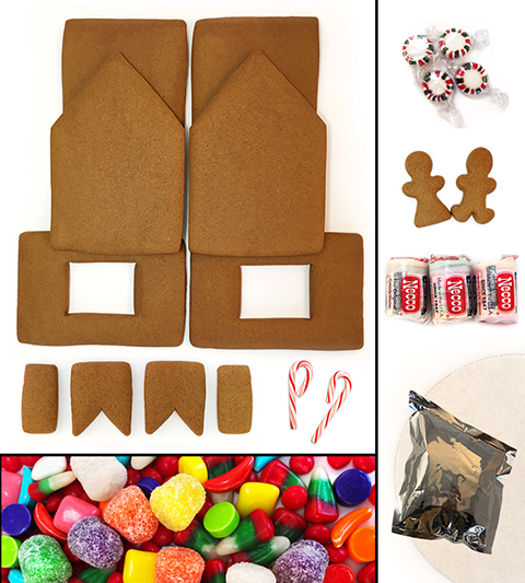Unassembled Traditional Gingerbread House Kit MAIN