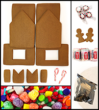 Traditional Gingerbread House Kit - Unassembled