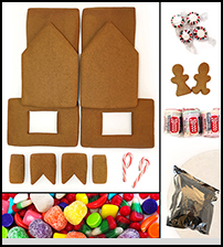 Unassembled Traditional Gingerbread House Kit THUMBNAIL