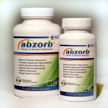 Abzorb™ Vitamin & Nutrient Optimizer by HCP Formulas' Available in      -   60 Capsule Bottles    -  150 Capsule Bottles