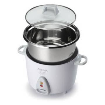 Aroma Simply Stainless 6-Cup Rice Cooker Model 753SG