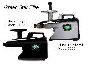 Green Star Elite Twin Gear Juicer Same Machine as GSE5000 except for Color  Models -  GSE-5010 Black  GSE-5050 Chrome-Co
