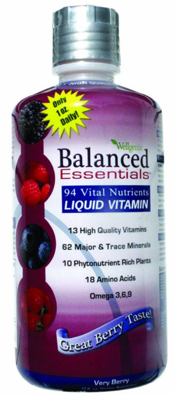 Balanced Essentials, Liquid Vitamin  32 fl oz Bottle - New Improved Formula By Heaven Sent Naturals