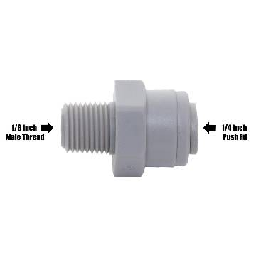 "John Guest PI010821S 1/8"" NPTF Thread to 1/4"" Self Connect Push Fitting"
