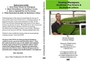 Michael Bergonzi Growing Wheatgrass & Sprouts DVD