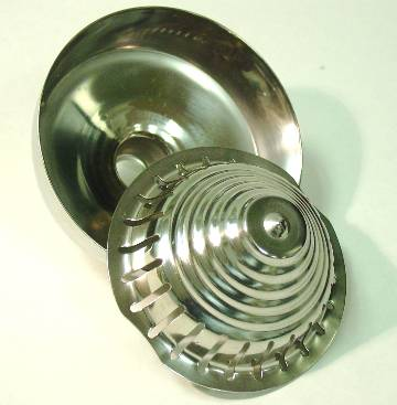 Stainless Steel Strainer Cone and Funnel Cup  for Crown Citrus Juicers Olympus, Jupiter, Ojex & Orange-X Juicers   Part#