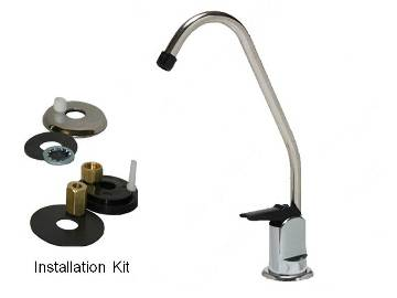 QMP102 Long Reach Non-Air Gap Chrome Faucet For RO, Chanson & other Undersink Filter Systems