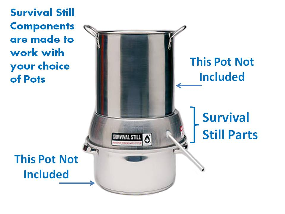 Survival Still   Non-Electric Stainless Steel Portable Water Distiller