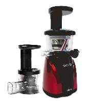 SlowStar Low Speed Vertical Juicer with Mincer  NOW with a New Juice Spout Cap  Model SW-2000-B (Red)