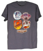 Hersheypark Top Coasters Adult Gray T-shirt