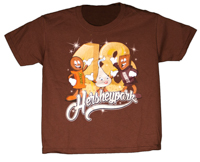 Hersheypark 2018 Characters Youth T-shirt Chocolate Brown