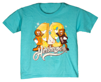 Hersheypark 2018 Characters Youth T-shirt Scuba Blue