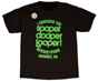 Hersheypark sooperdooperLooper Black Glow in the Dark Youth T-shirt