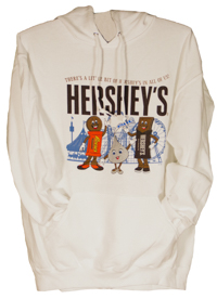 Hersheypark Little Bit of Hershey's White Adult Hooded Sweatshirt