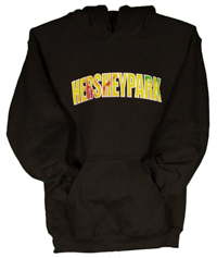 Hersheypark Applique TyeDye Black Adult Hooded Sweatshirt