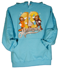 Hersheypark 2018 Characters Adult Hooded Sweatshirt Scuba Blue