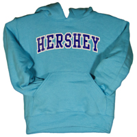 Hershey Youth Hooded Sweatshirt Scuba Blue